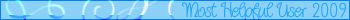 Most helpful User 2009 Banner