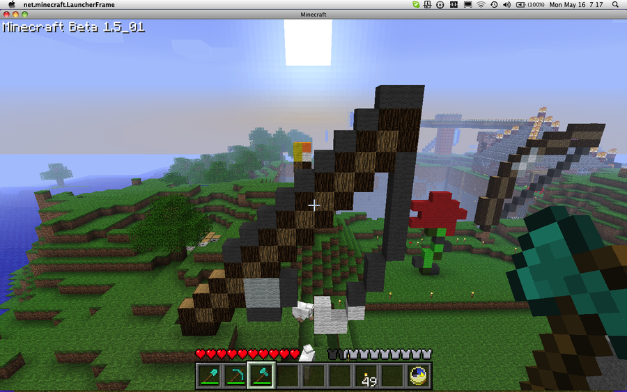 how to make a fishing pole in minecraft