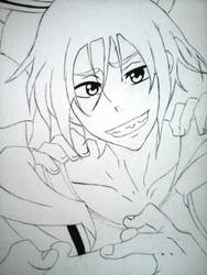 Free! - Rin WIP by Teity-Chan