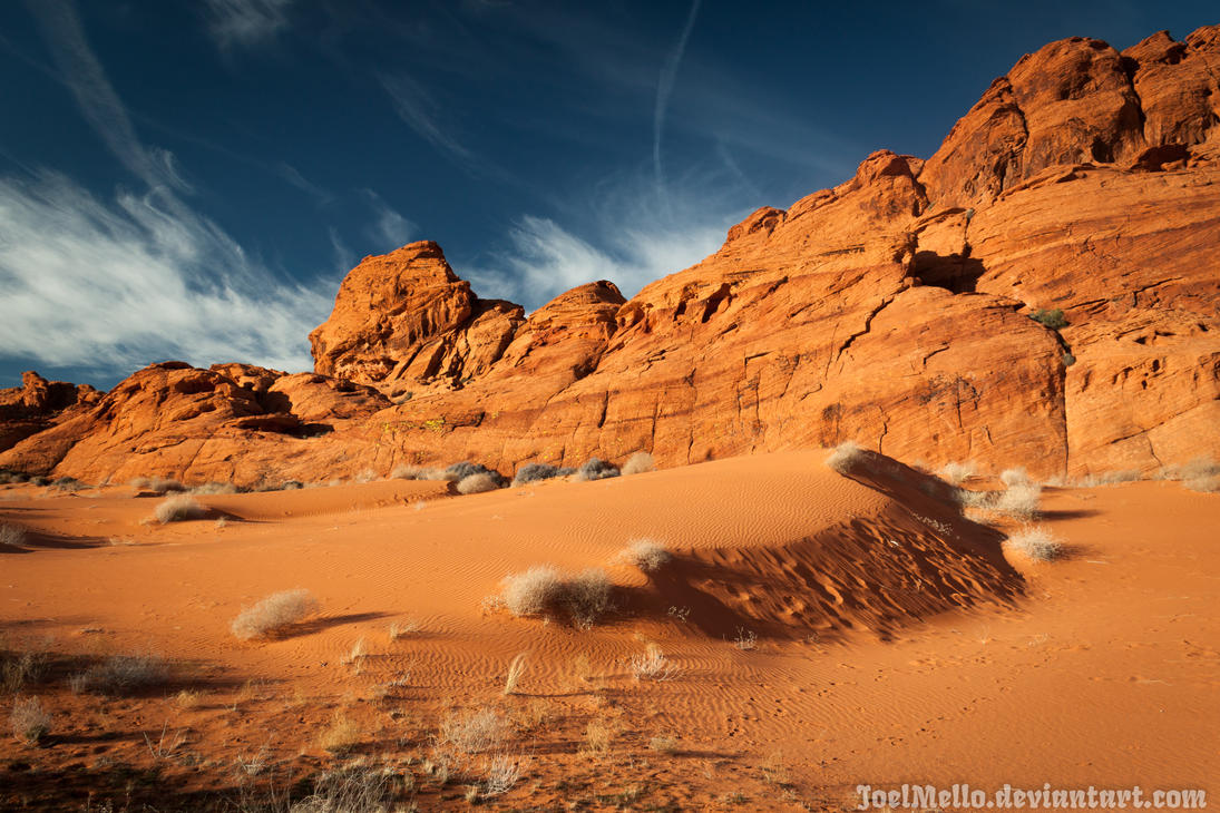 Mud Wash Dunes at Gold Butte National Monument, NV by joelmello