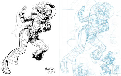 Inks: Space Chick by Fegredo