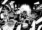 Dredd vs Mongrol by JimCampbell