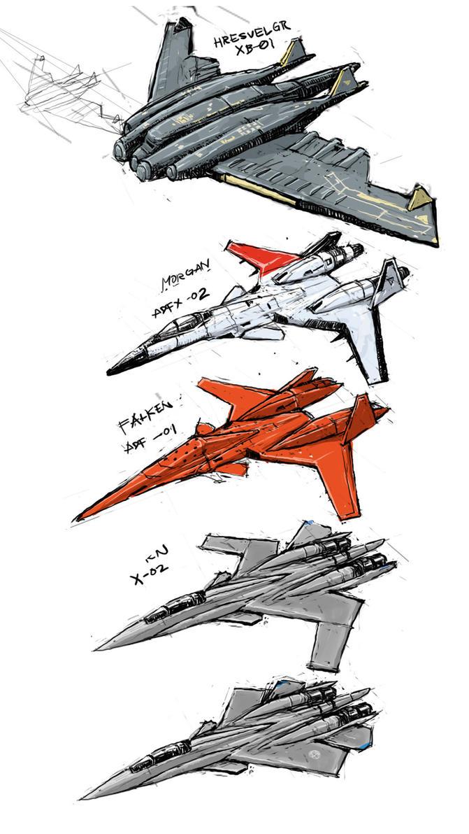 Ace Combat doodlets by sachsen
