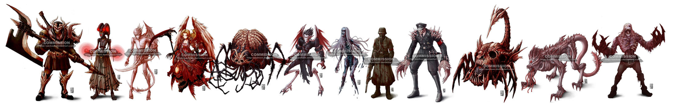 COMMISH monsters1 by sachsen