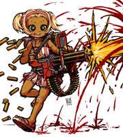 Minigun Girl by sachsen