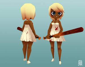 3D chibi bat girl