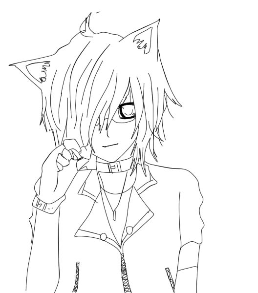how to draw a neko boy