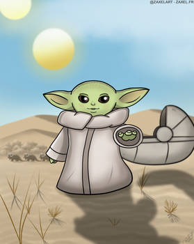 Baby Yoda - Digital Art