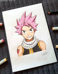Natsu from Fairy Tail - Marker Art