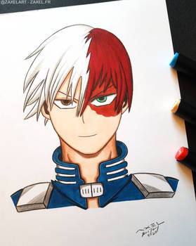 Shoto from My Hero Academia - Marker Art