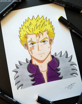 Laxus from Fairy Tail - Marker Art