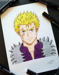 Laxus from Fairy Tail - Marker Art