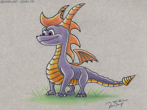 Spyro - Pencil Art