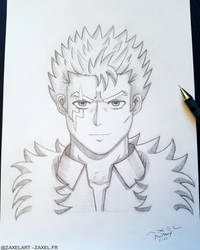 Laxus from Fairy Tail - Pencil Art