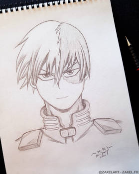 Shoto from My Hero Academia - Pencil Art