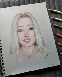 Girl Portrait - Pencil Art
