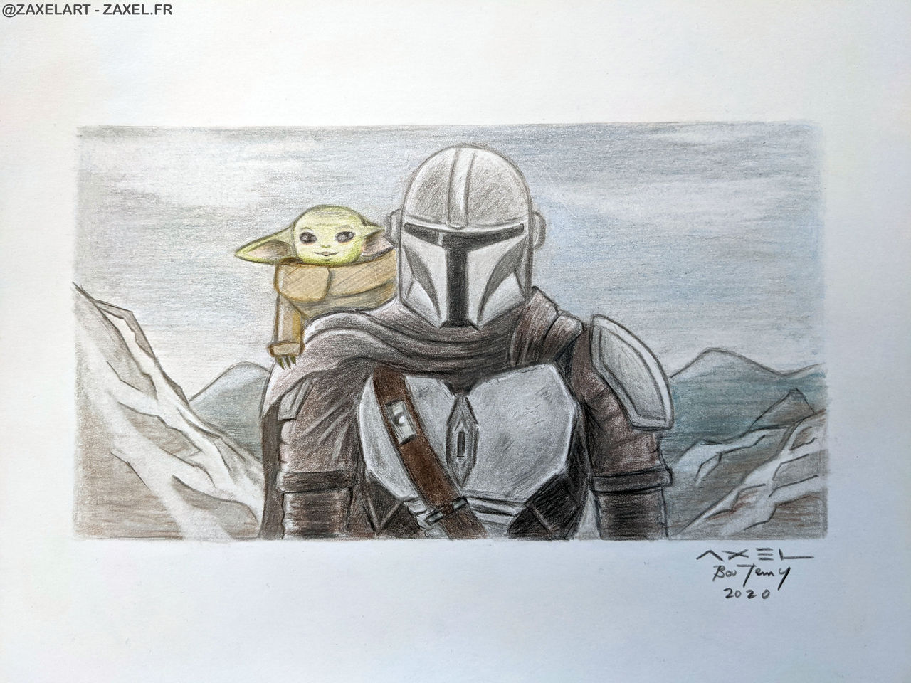 Mando and Grogu - Pencil Art