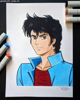 Ryo Saeba from City Hunter - Marker Art