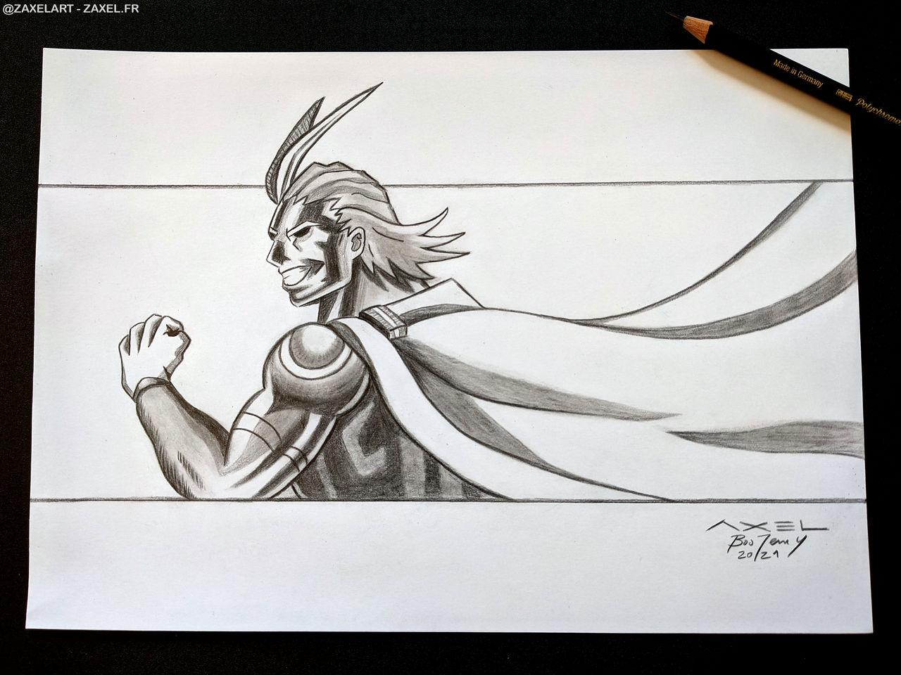 All Might - Pencil Art