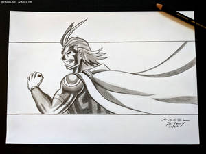 All Might - Pencil Art