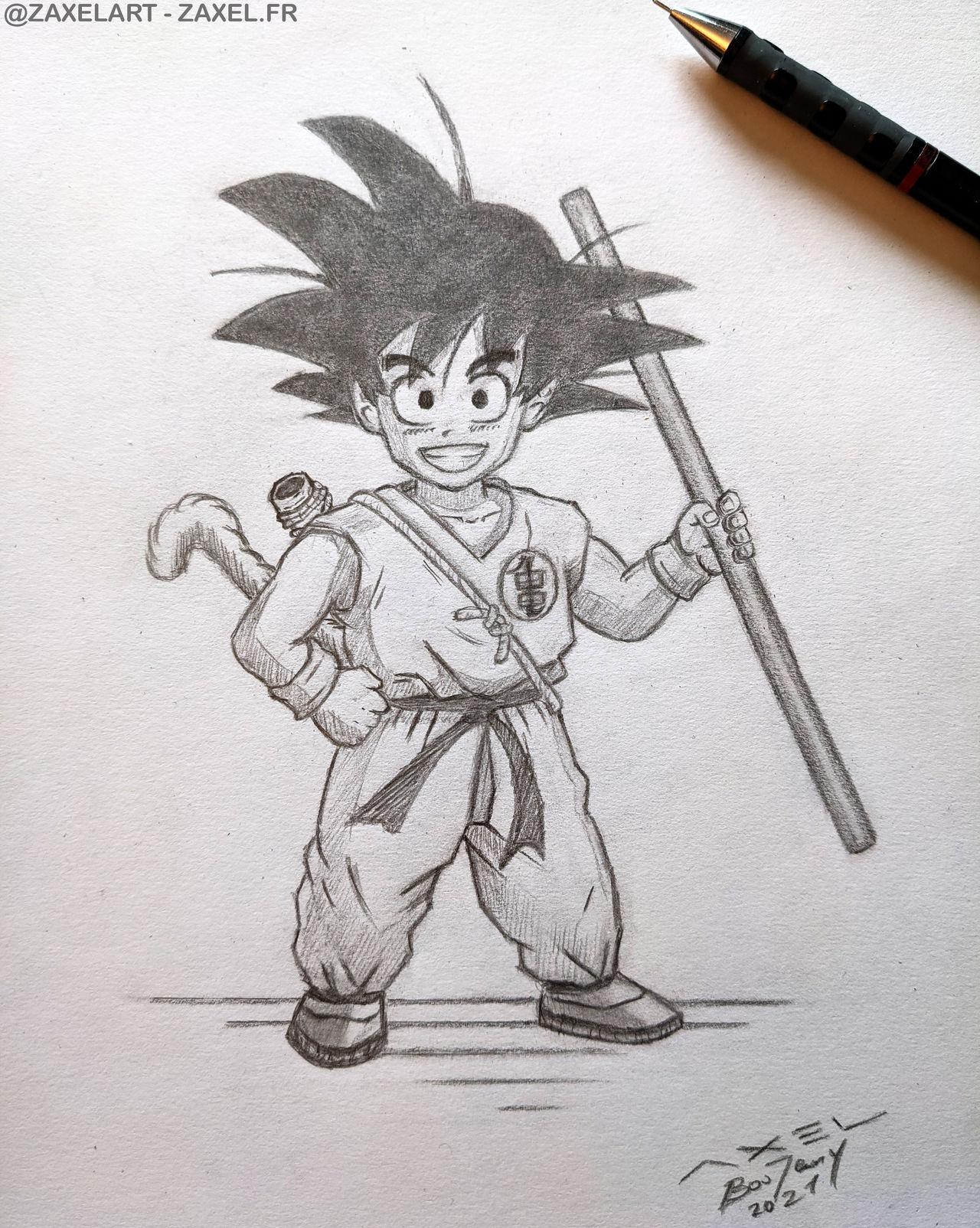 Goku - Pencil Art
