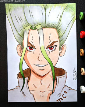 Senku from Dr. Stone - Marker Art