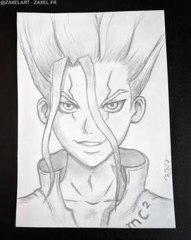 Senku from Dr. Stone - Pencil Art