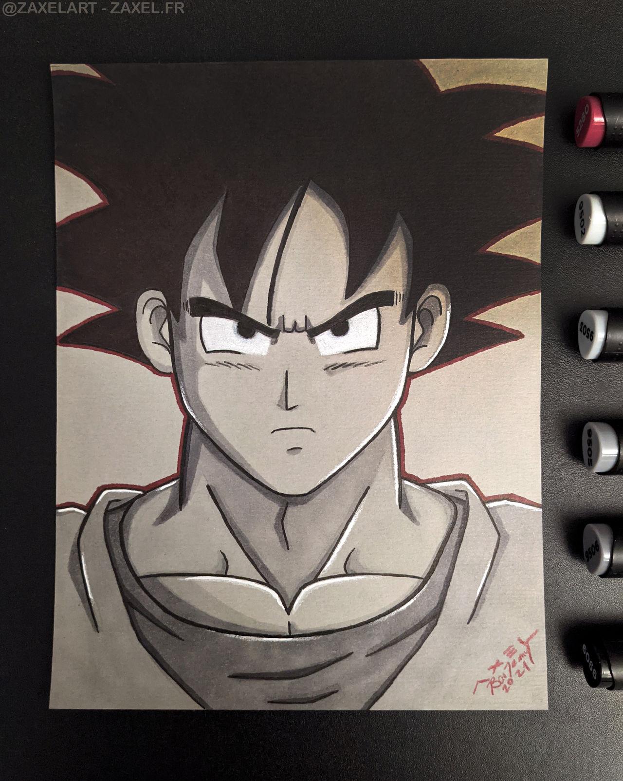 Goku - Marker Art