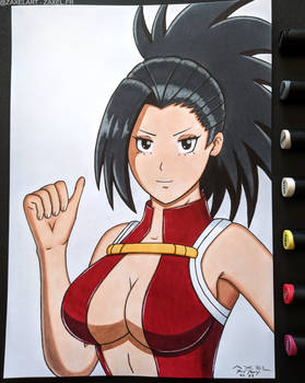 Momo from My Hero Academia - Marker Art
