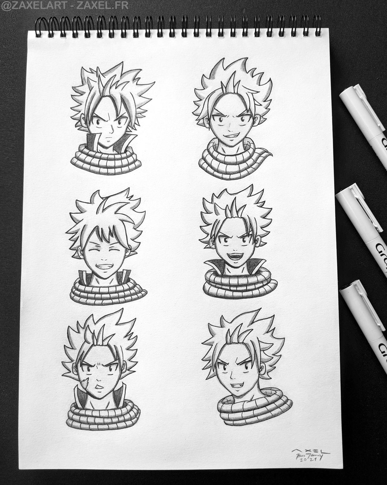 Natsu - Pencil Art