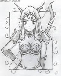 Sylvanas from WOW - Pencil Art