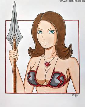 MMORPG Warrior - Marker Art