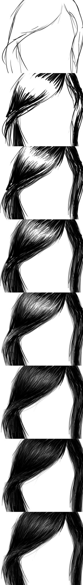Tutorial : digital : hair by phoenirius