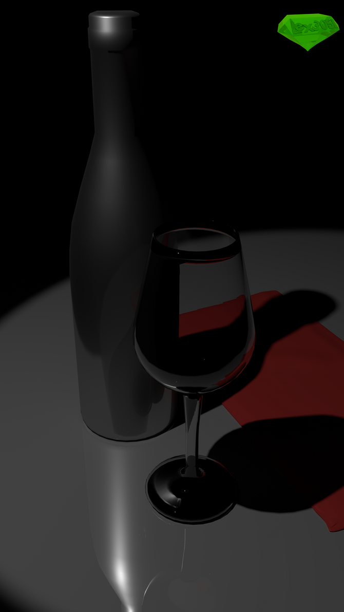 Wine Glass by Lex3051