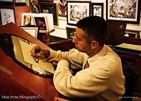 artist at work by Dean-Irvine