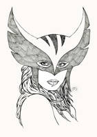 Hawkgirl drawing by Dean-Irvine