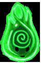 Green Swirl Wisp by ReapersSpeciesHub