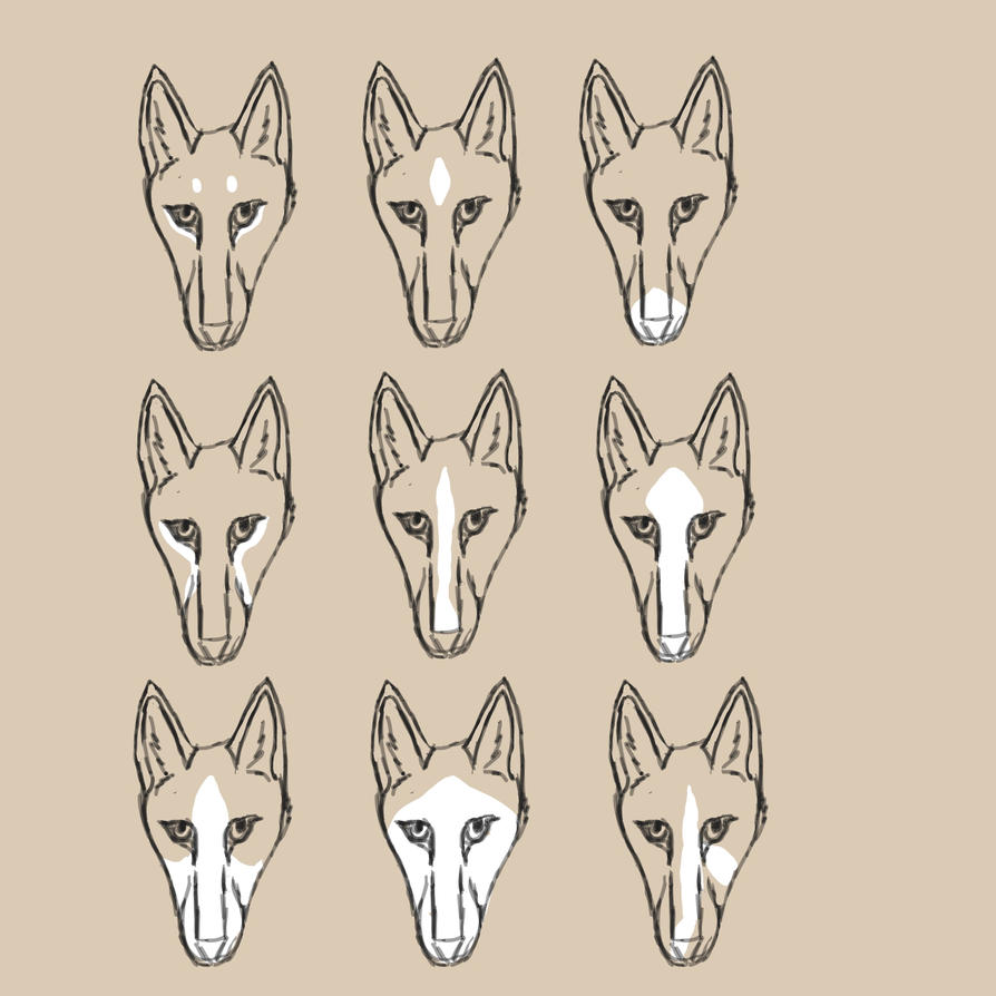 Acceptable white face markings by ReapersSpeciesHub
