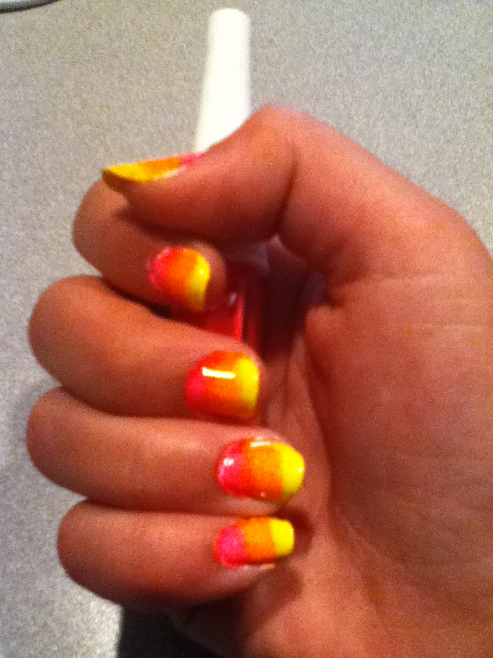 Sunset ombre nails by Kitten2222 on DeviantArt