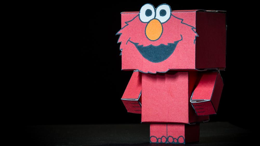 Elmo sesame street cubeecraft by mhoulden on deviantart for Elmo arts and crafts