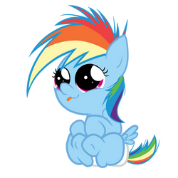 RainbowDash Baby by zigrock001