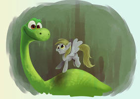 Arlo and Derpy by zigrock001