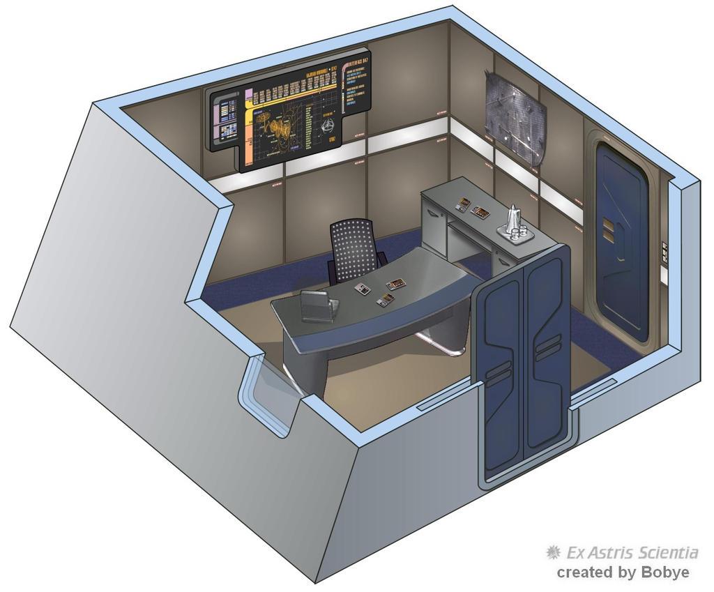 USS Defiant - Readyroom by bobye2