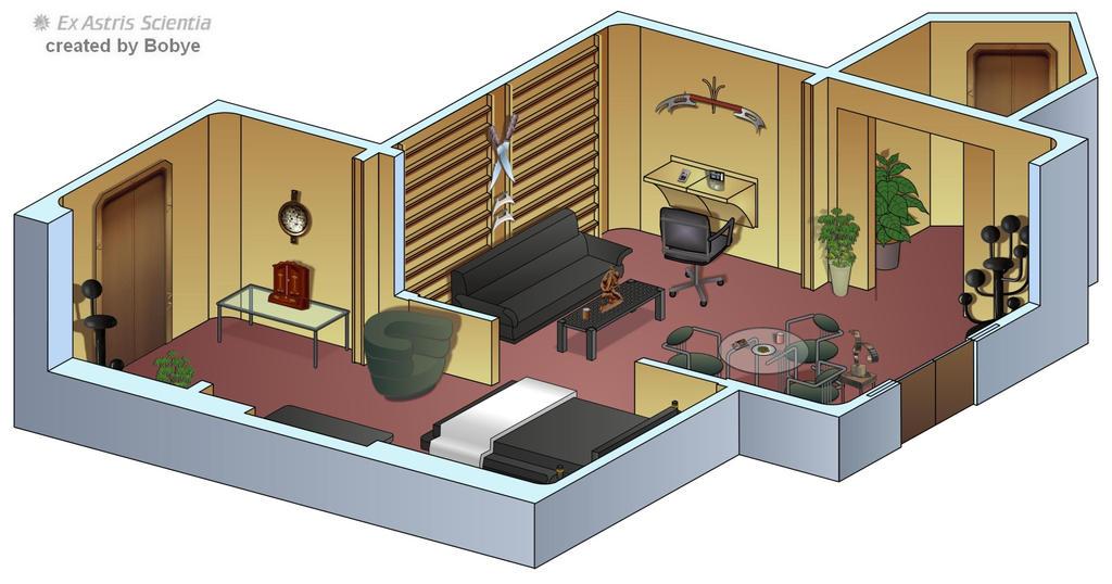 Star Trek Tng Picard S Quarters Floor Plan Http Bobye2