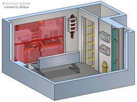 NCC-1701 Emergency Manual Monitor Room by bobye2