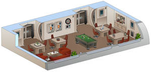USS Saratoga - Recreation room