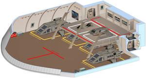 USS Saratoga - Shuttle bay