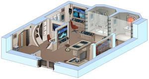 USS Saratoga - Biology lab