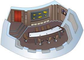 USS Triton - Conference Room / Observation Lounge by bobye2