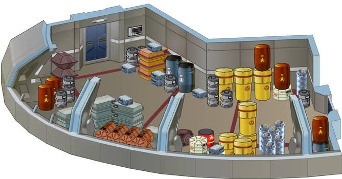 USS Defiant - Cargo hold by bobye2
